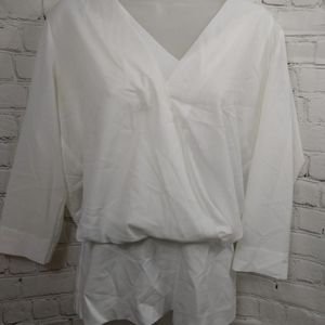Cabi drapey blouse white size Small gently used